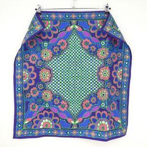 3 for $25 - Vintage Blue Floral Kerchief Scarf